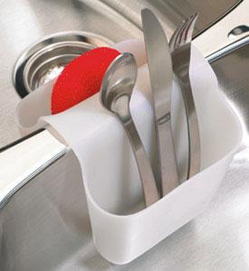 Kitchen Sink Sponge Holder sink sponge holder - white in sink organizers
