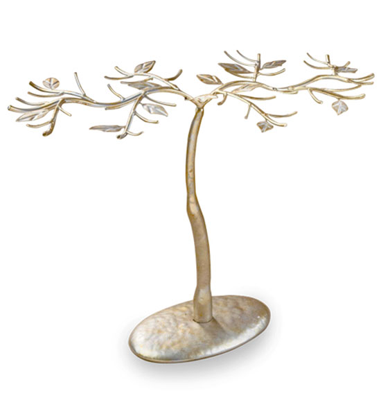 Jewelry Organizer Tree Antique Gold in Jewelry Stands