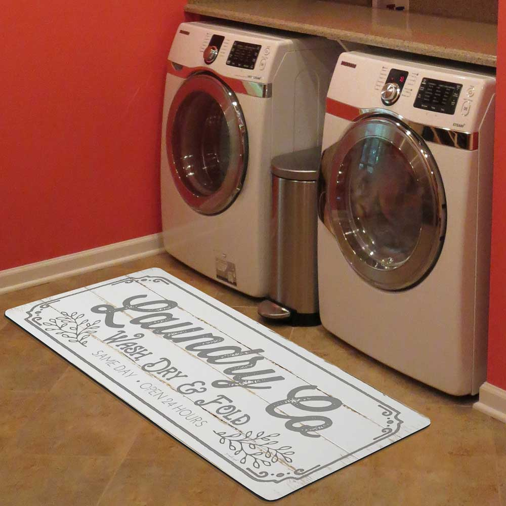 22 X 52 Laundry Room Runner Mat In Laundry Room Organizers