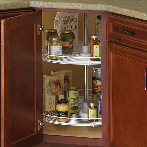 28 inch cabinet lazy susan wire full round in cabinet lazy susans - How to organize a lazy susan cabinet ...