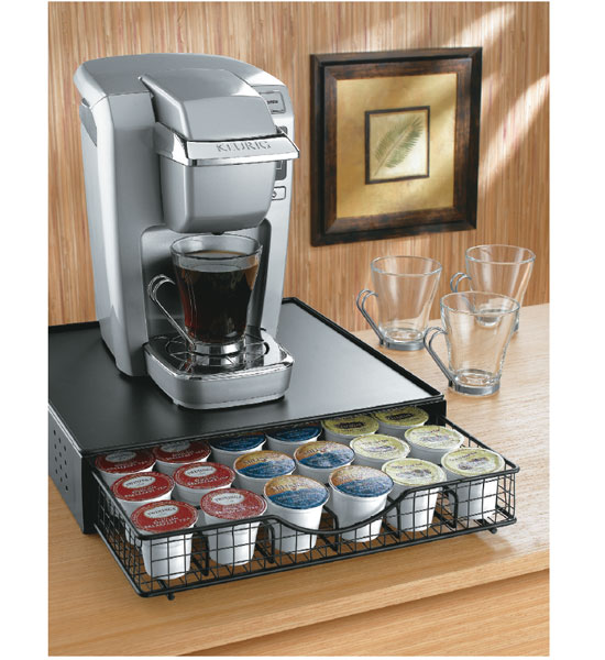 K Cup Holder And Coffee Maker Platform In Tea And Coffee
