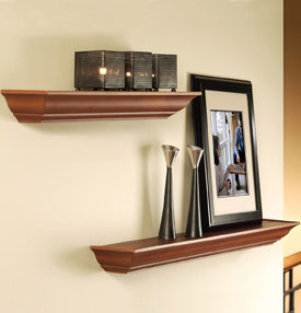Floating Decorative Wall Shelf Black In Wall Mounted Shelves