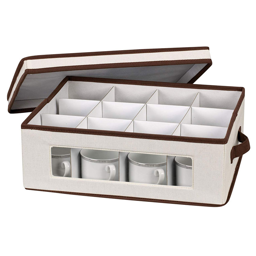 Vision Canvas China Cup Storage Box In China Storage