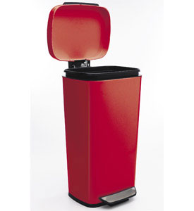 Oxo Steel Kitchen Trash Can Red Image Click Any Image To View In High Resolution