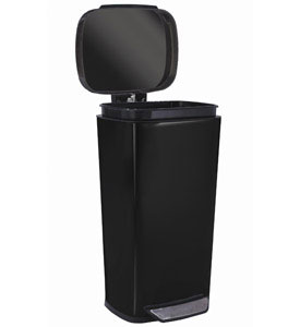 Oxo Steel Kitchen Trash Can Black In Stainless Steel