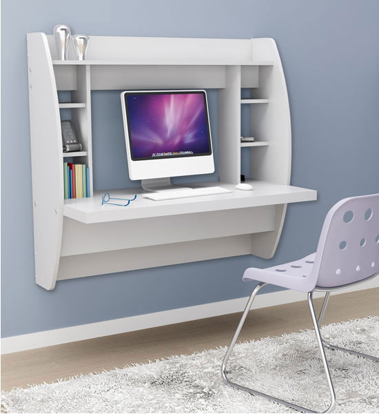 Wall Mounted Desk With Storage White Image Click Any To View In High Resolution