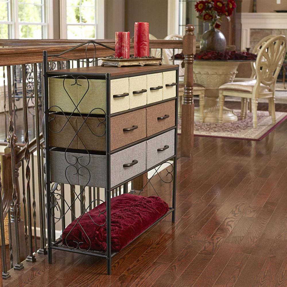 8 drawer chest in shelves with baskets. Black Bedroom Furniture Sets. Home Design Ideas