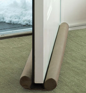 Twin draft guard door and window draft stopper in draft for Door draft stopper