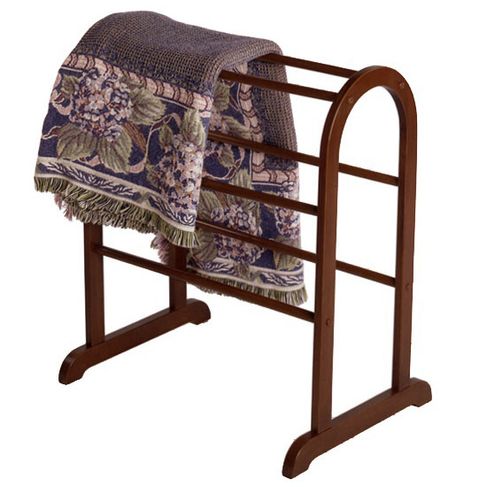 Walnut Quilt And Blanket Rack In Quilt Racks