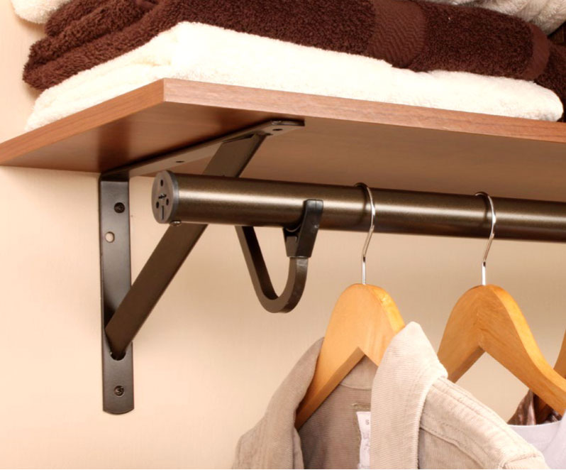Adjustable Closet Rod Brushed Nickel In Closet Rods And