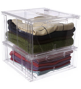 crystal clear clothing storage drawer large in storage drawers. Black Bedroom Furniture Sets. Home Design Ideas