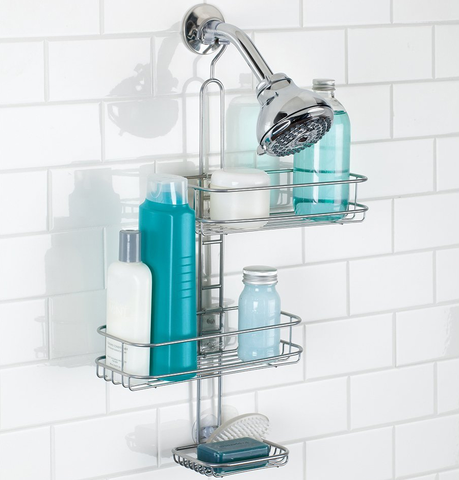 adjustable shower caddy in shower caddies. Black Bedroom Furniture Sets. Home Design Ideas