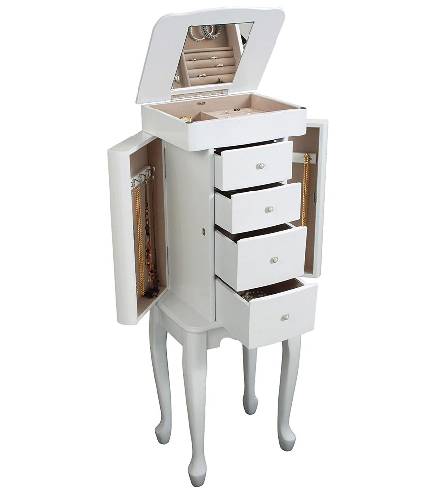 Alexis Stand Up Jewelry Box in Jewelry Armoires