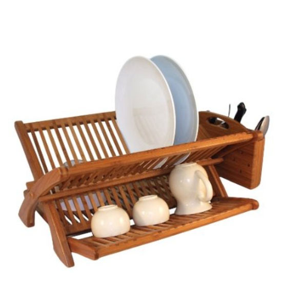 sc 1 st  Organize-It & Bamboo Dish Rack in Dish Racks