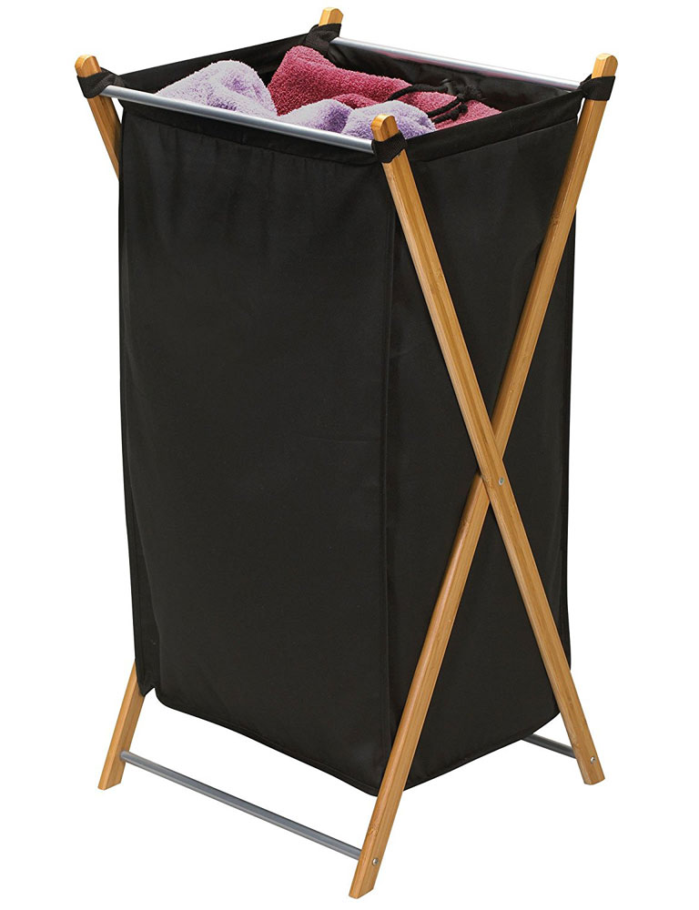 Bamboo foldable laundry hamper in clothes hampers - Bamboo clothes hamper ...