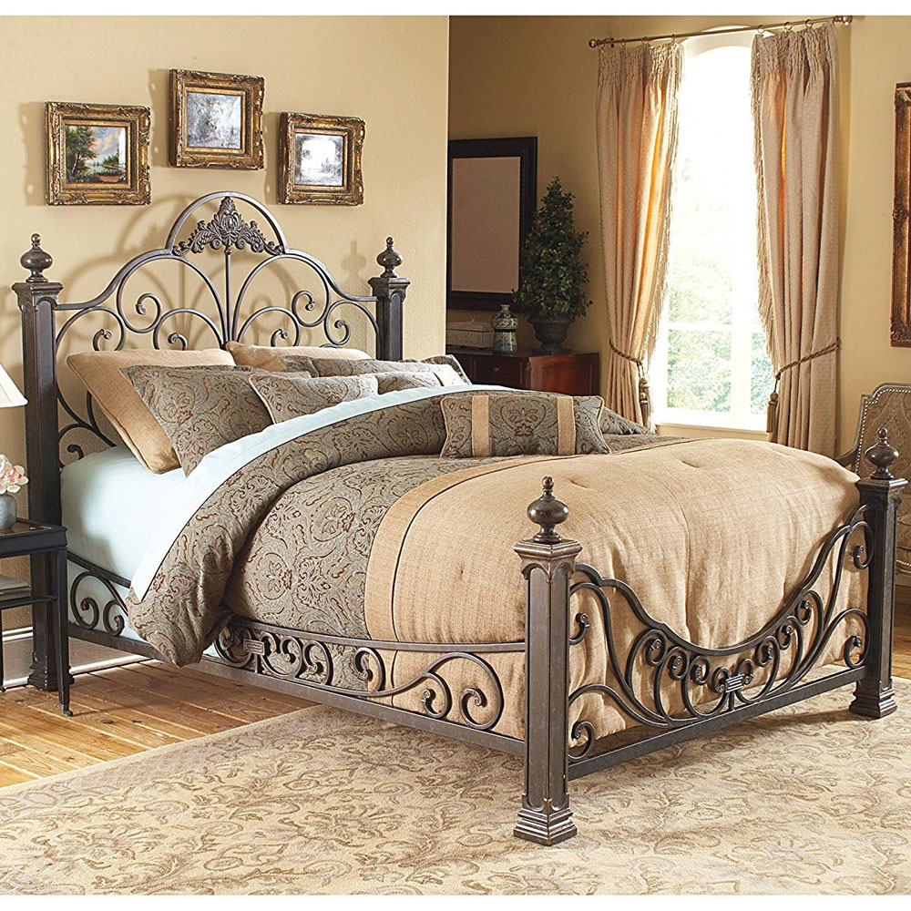 Baroque Metal Bed Frame In Beds And Headboards