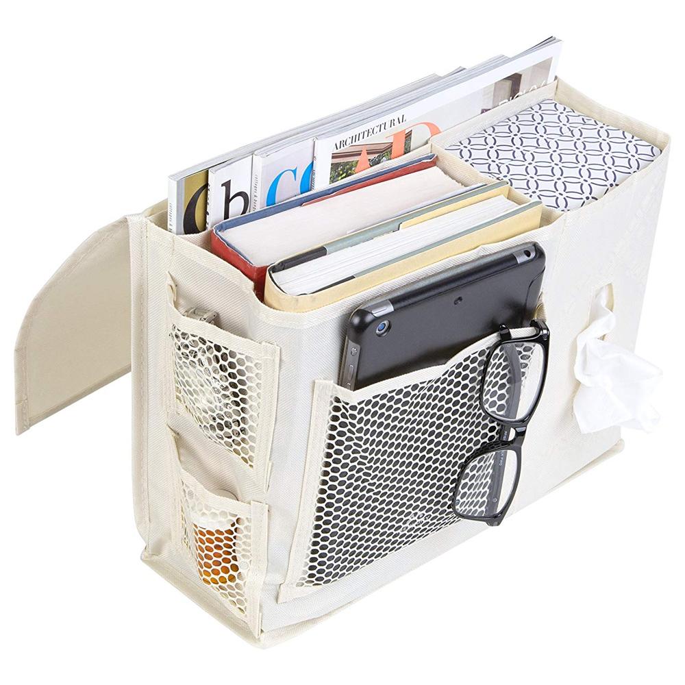 Bedside Storage Caddy - Natural Denier in Bedside Storage