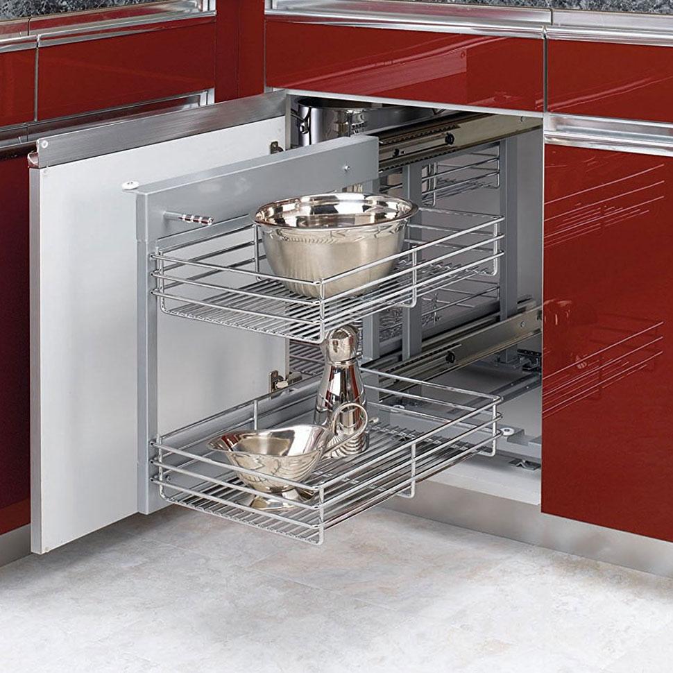 blind corner cabinet organizer in pull out cabinet shelves. Black Bedroom Furniture Sets. Home Design Ideas