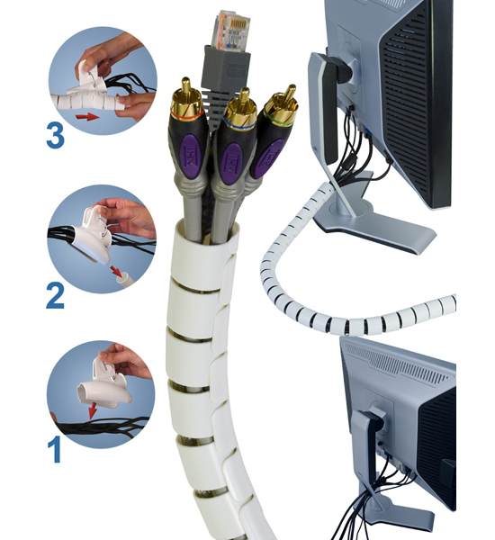 Cable Management System : Cable zipper wire management system in organizers