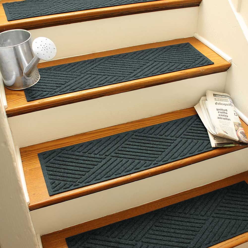Carpet Stair Mats Diamonds Set Of 4 In Entryway Rugs