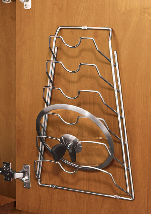 Cabinet Door Lid Rack Chrome In Pot Lid Racks