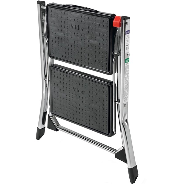 Chrome Two Step Ladder In Step Stools