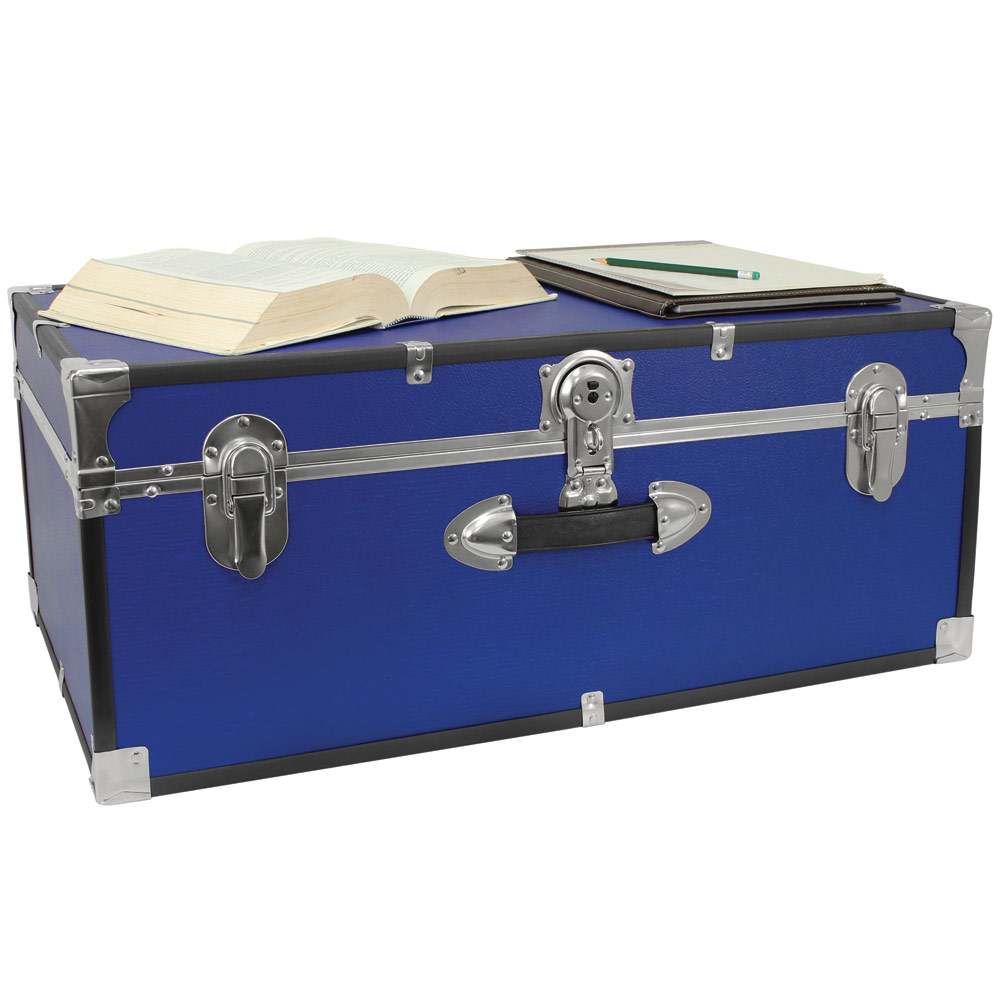 Classic Collegiate Storage Trunk   Blue Image. Click Any Image To View In  High Resolution