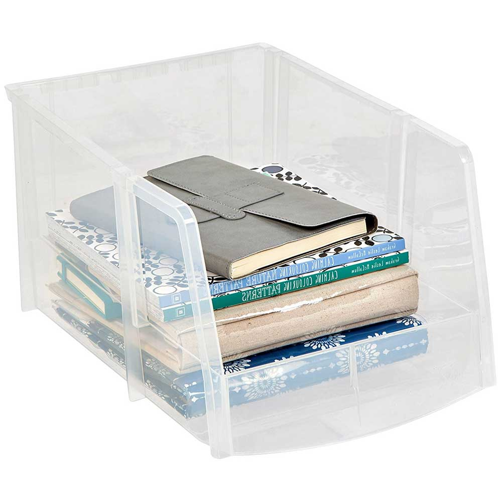 Clear Plastic Stacking Bin In Plastic Storage Bins