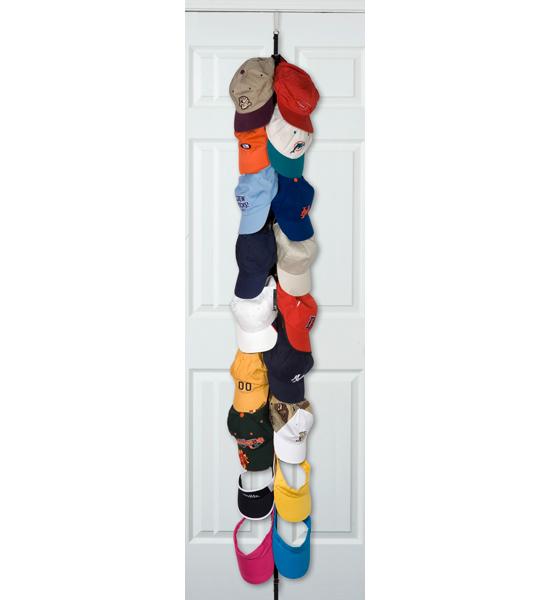 Over the door closet organizer in baseball hat racks for Hat organizer for closet