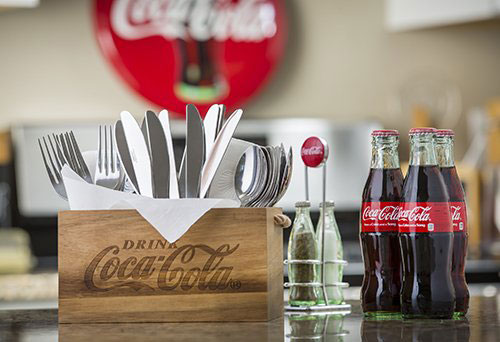 Coca-Cola Picnic Flatware Caddy - Wood in Picnic