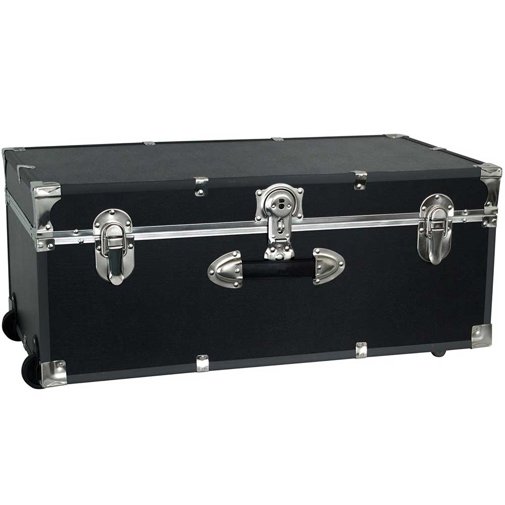 Amazing Collegiate Wheeled Storage Trunk   Black Image. Click Any Image To View In  High Resolution