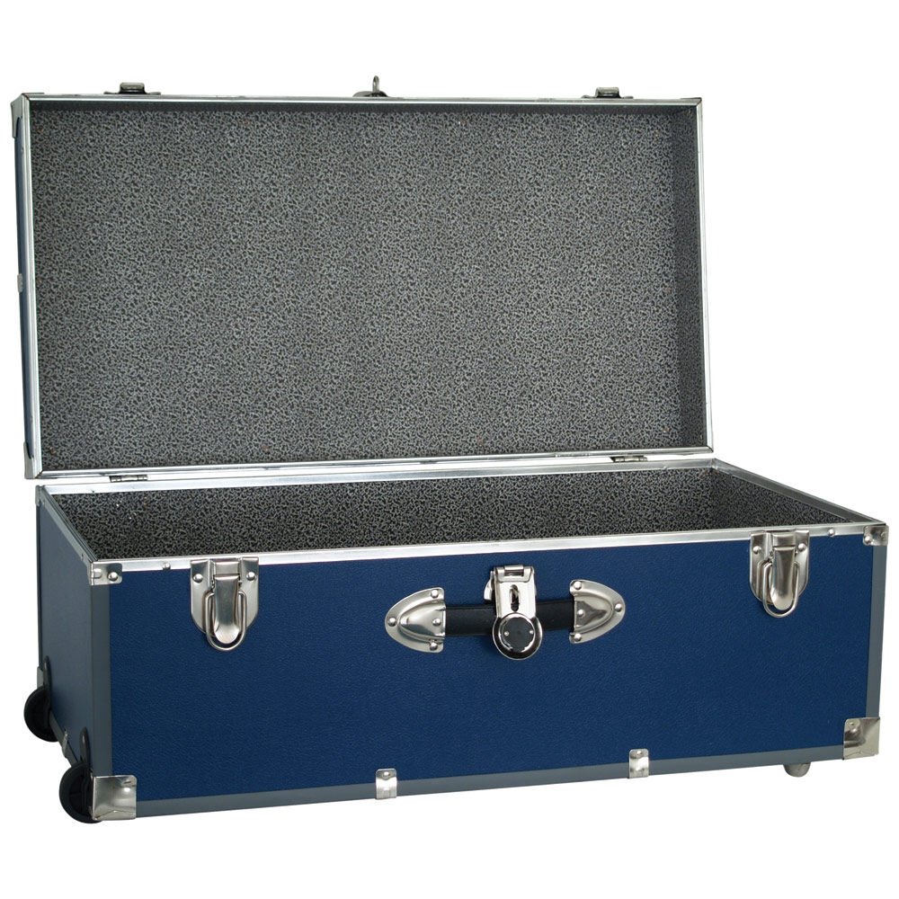 Collegiate Wheeled Storage Trunk   Blue Image. Click Any Image To View In  High Resolution