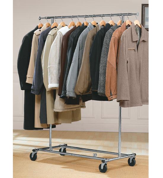 Commercial Chrome Garment Rack