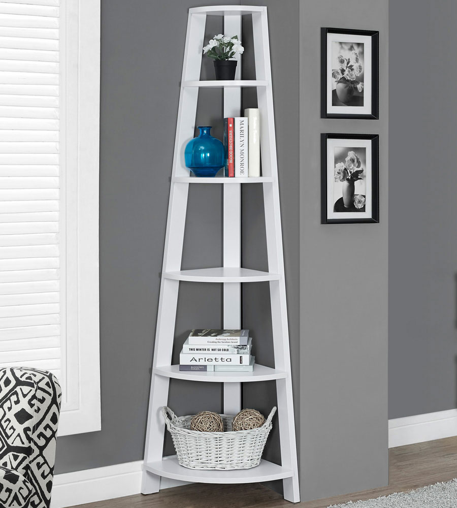 corner etagere in free standing shelves. Black Bedroom Furniture Sets. Home Design Ideas