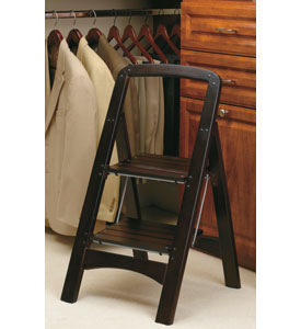 Rockford Two Step Wooden Step Stool Mahogany In Step Stools