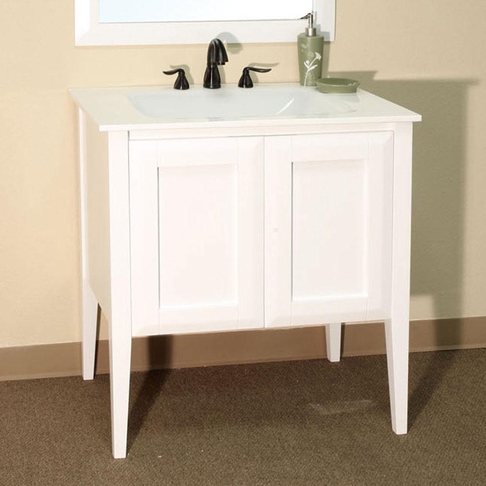 Cottage Single Sink Vanity In Bathroom Vanities