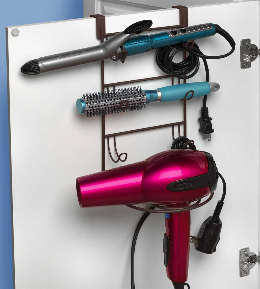 Hair Dryer Curling Iron Organizer Part - 23: Curling Iron Holder - Over Door Image. Click Any Image To View In High  Resolution