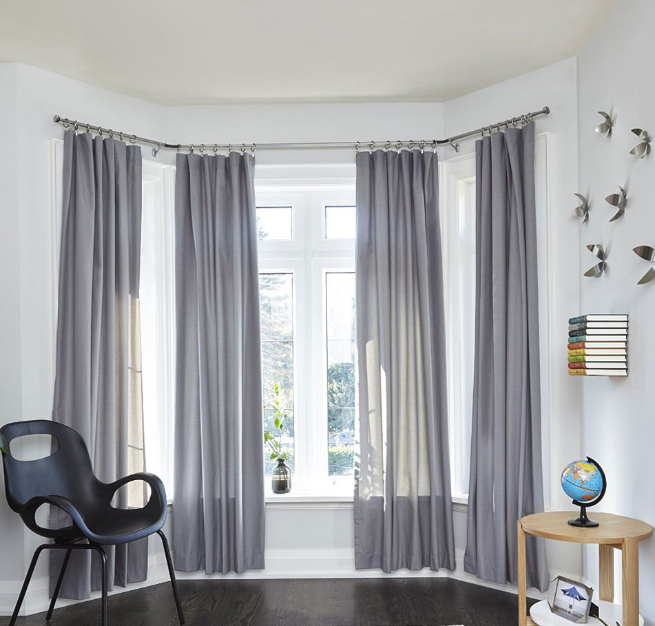 bay window curtain rod in curtain rods and hardware. Black Bedroom Furniture Sets. Home Design Ideas