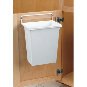 Door Mounted Trash Can Image. Click any image to view in high resolution