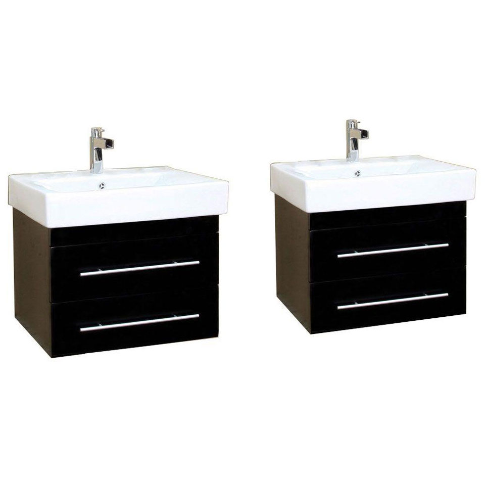 Double wall mount sink vanity in bathroom vanities - Wall mount bathroom vanity cabinets ...