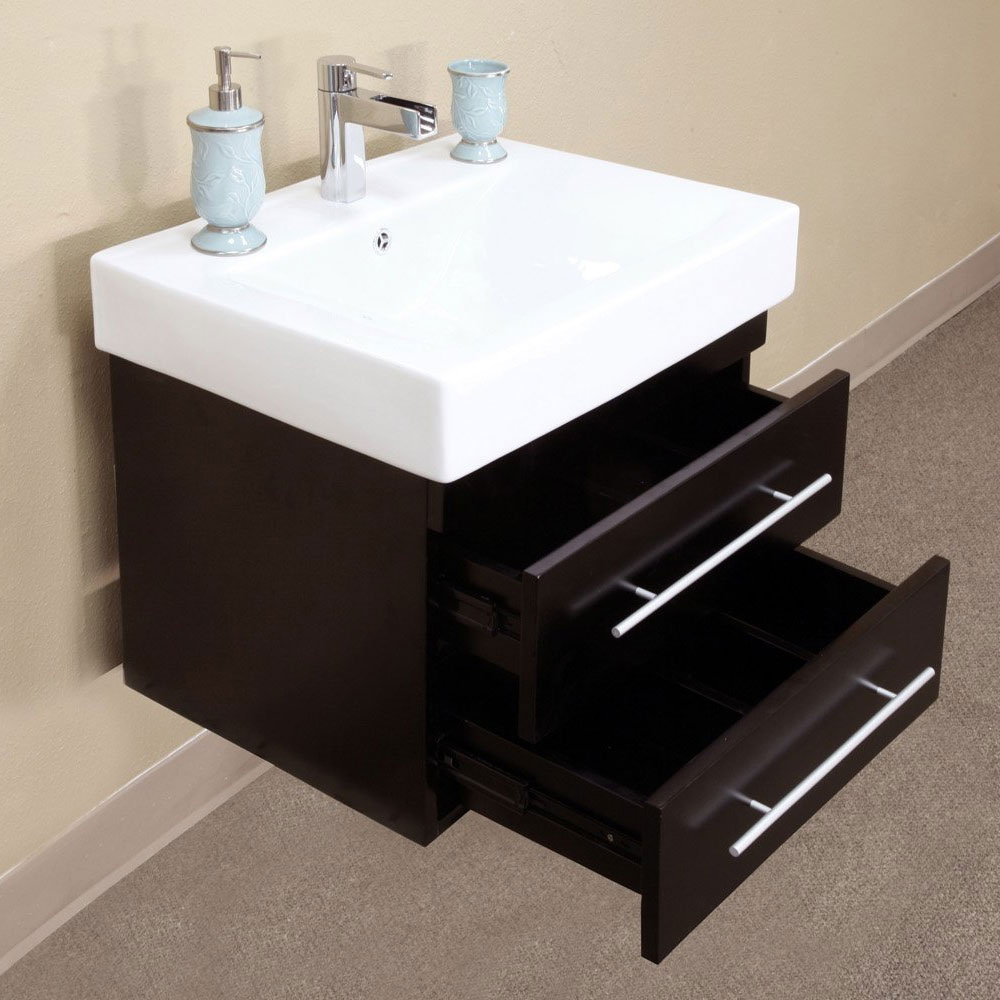 Double Wall Mount Sink Vanity In Bathroom Vanities