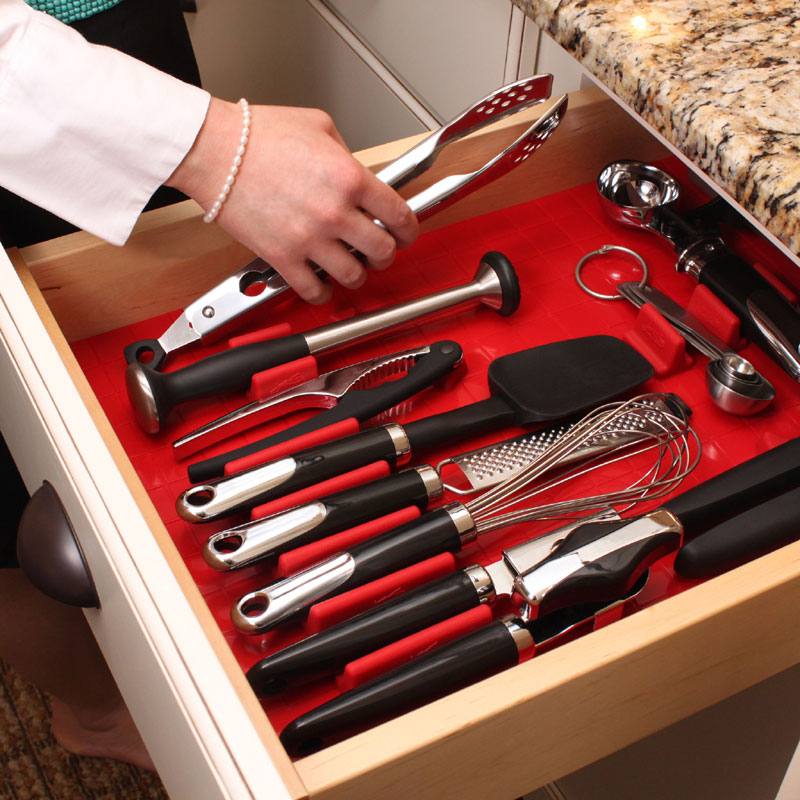 Tool Drawer Liner And Toolbox Organizer System In Tool Storage