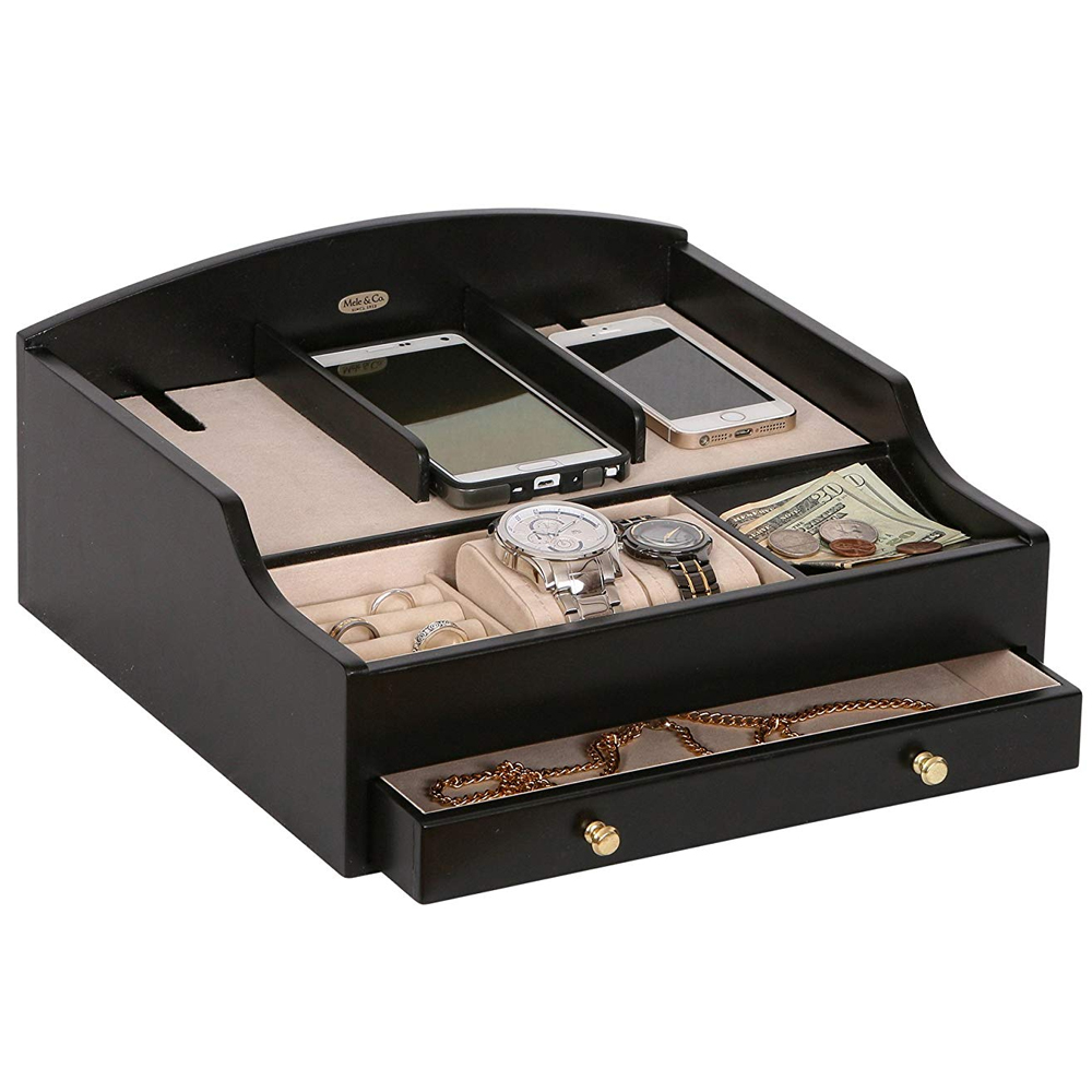 Mens Valet Tray In Charging Stations