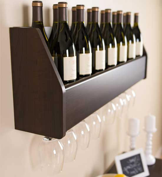 floating wine rack in wine racks. Black Bedroom Furniture Sets. Home Design Ideas