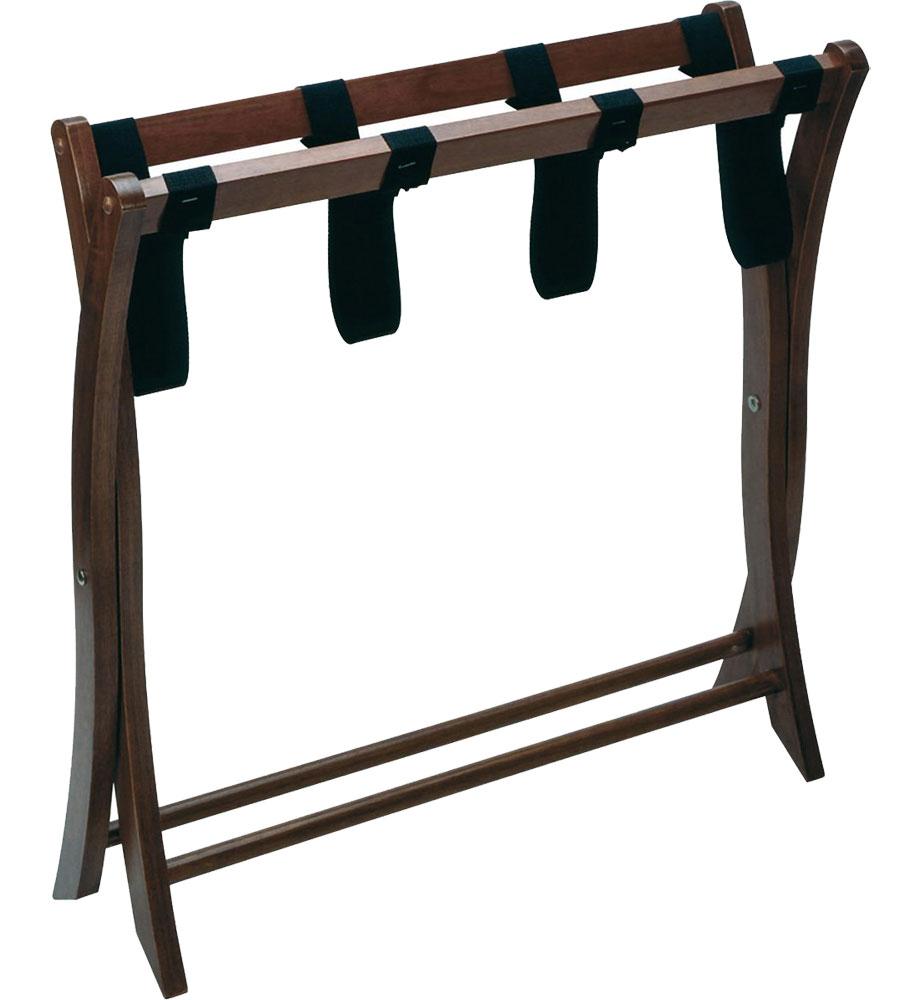 Folding Luggage Stand Walnut In Luggage Racks