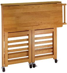 folding kitchen cart light oak in kitchen island carts. Black Bedroom Furniture Sets. Home Design Ideas