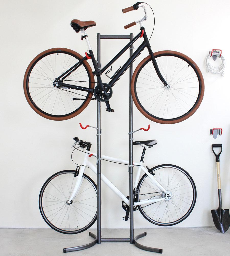 Freestanding Four Bike Rack In Bike Stands