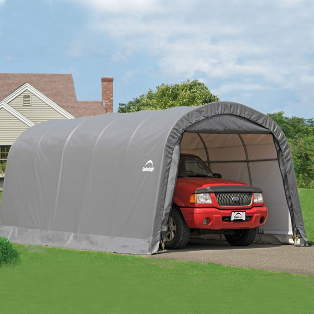 Shelterlogic garage in a box roundtop in storage sheds for Location garage box
