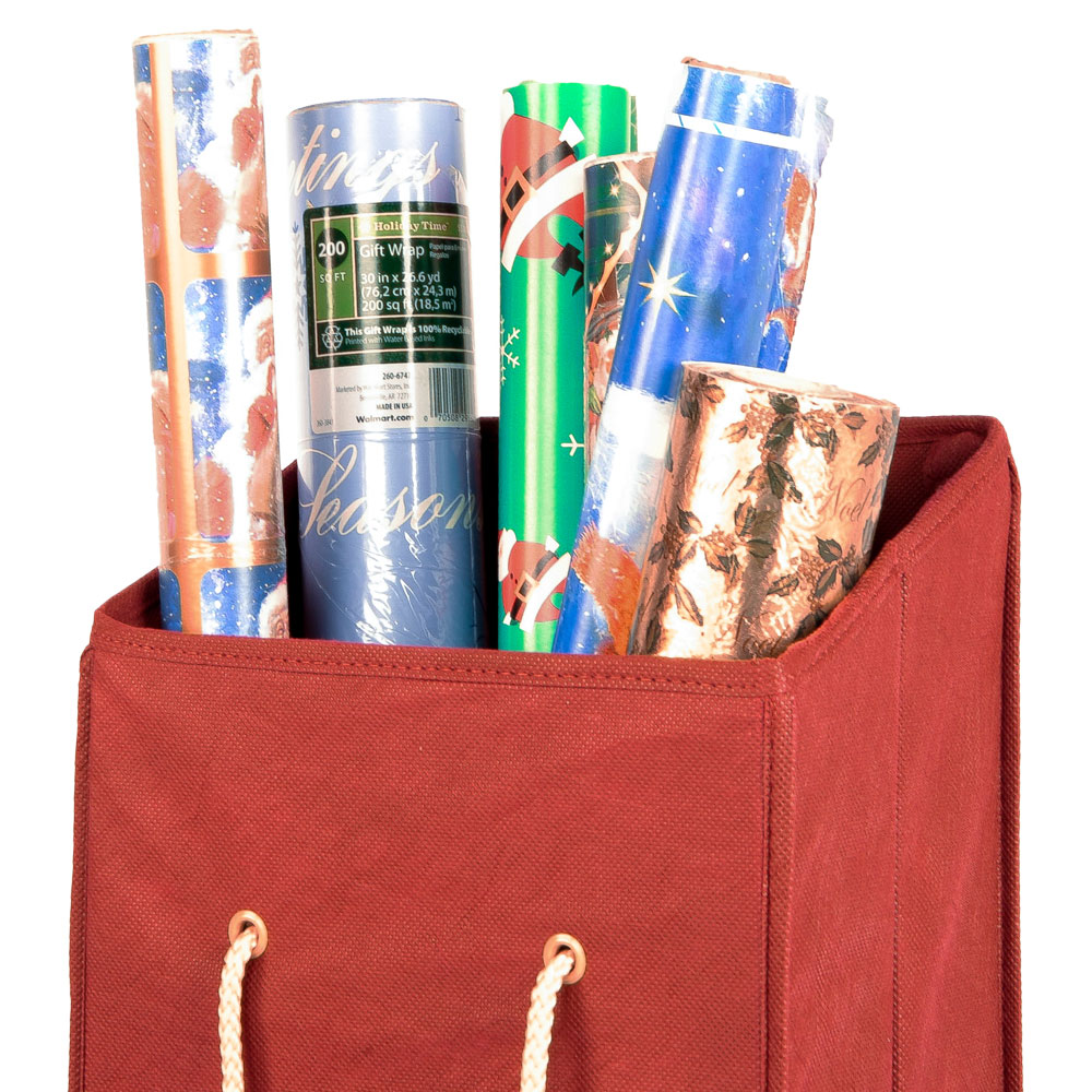 Wrapping Paper Storage Box In Gift Wrap Organizers