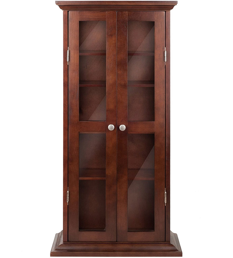 two door media cabinet in media storage cabinets